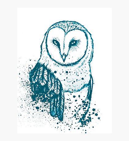 Owl Tee Photographic Print