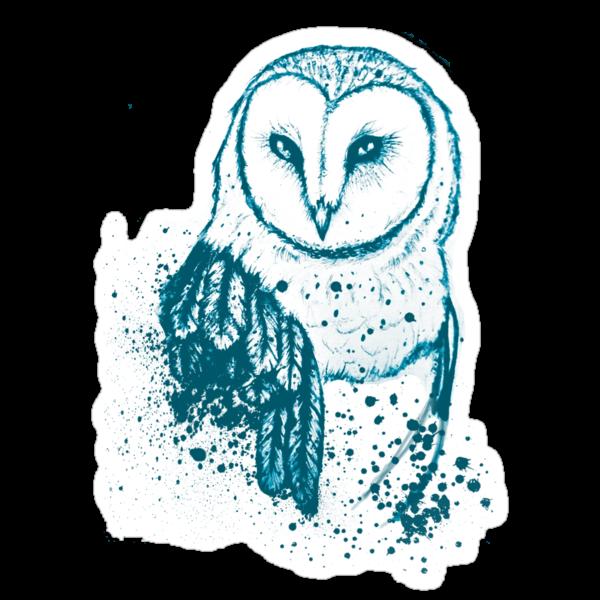 Owl Tee by Aleksandra Kurczewska