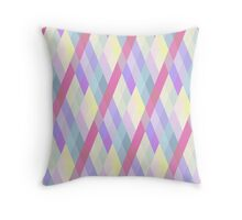 Pastel Diamonds 006 Throw Pillow