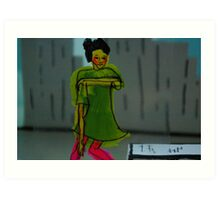 Dancer - moving seriously Art Print