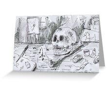 THE SMOKING ARTIST(C2007) Greeting Card