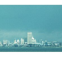 Not The Emerald City, Quite ~ Buffalo In Blue Photographic Print