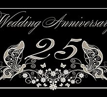 25th Anniversary Card Silver Anniversary by Moonlake