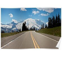 Road to Sunrise, Mt. Rainier National Park Poster