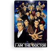 The 12 Doctors Canvas Print