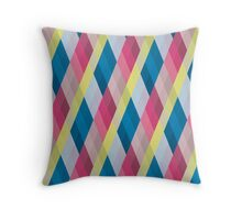 Pastel Diamonds 007 Throw Pillow