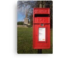 The Postbox by the Church Canvas Print