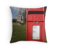 The Postbox by the Church Throw Pillow