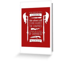 Buffy the Vampire Slayer - Chosen One Greeting Card