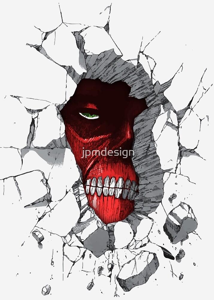 Red Peeking Monster by jpmdesign