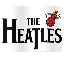 The Heatles in Black Poster