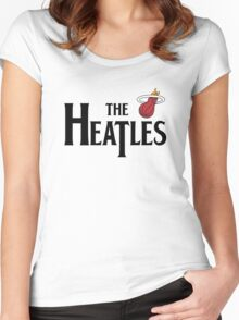 The Heatles in Black Women's Fitted Scoop T-Shirt