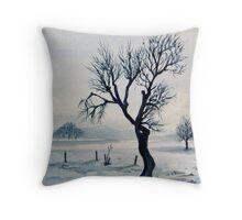 Frigid Winter Throw Pillow