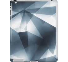 Abstract geometric triangle pattern ( Carol Cubism Style) in ice silver - gray iPad Case/Skin