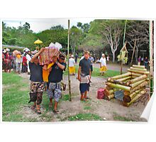 Balinese cremation ceremony 4 Poster