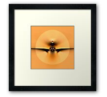 Fly to the Sun on Golden Wing Framed Print