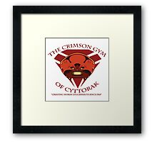 The Crimson Gym of Cyttorak Framed Print