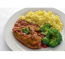 Basque Chicken In A Spicy Vegetable Sauce Photographic Print