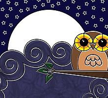 Night Owl Card by Louise Parton
