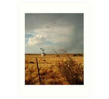Passing Rain,Rural Geelong Art Print