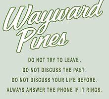 Wayward Pines - Rules in the City by TylerMellark