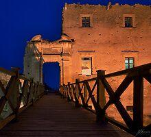 Bridge leading to abandoned castle by Mario Curcio