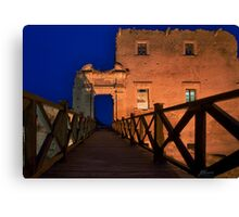 Bridge leading to abandoned castle Canvas Print