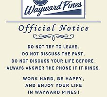 Wayward Pines - Official Notice City Rules by TylerMellark