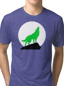 Green Wolf Tri-blend T-Shirt