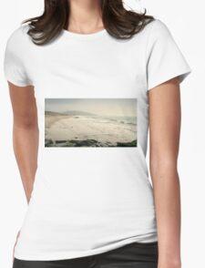 Winter Days at Pentewan Beach,Cornwall Womens Fitted T-Shirt