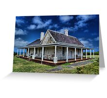 Residence of The Light house Keeper Greeting Card