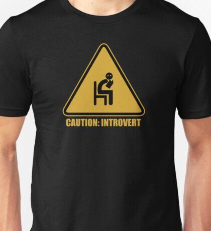 Caution Introvert Sign Unisex T-Shirt