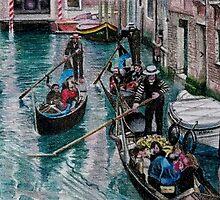 Peak Hour in Venice by Karen  Hull