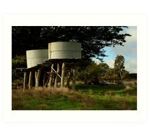 Water Tanks, Macendon Ranges Art Print