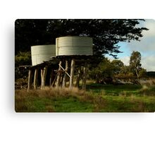 Water Tanks, Macendon Ranges Canvas Print