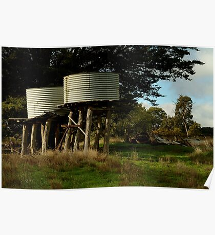 Water Tanks, Macendon Ranges Poster