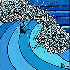 Classic Wave Series ~ Makaha Wipeout by David  Bell