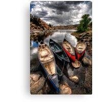 Canoe Break 2 Canvas Print
