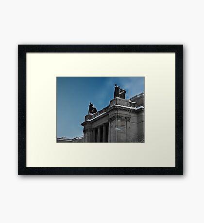 Perch Framed Print