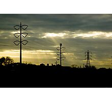 Telephone Wires Photographic Print