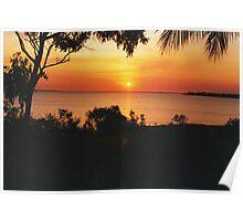 Sunset at Fanny Bay. Darwin Poster