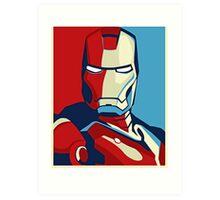 The Avengers - Vote for Iron Man (2) Art Print