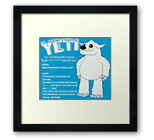 Yeti With Title Framed Print