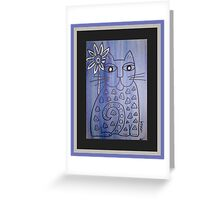 Cat's Got the Blues Greeting Card