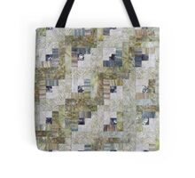 Foggy Morning Log Cabin Quilt Tote Bag