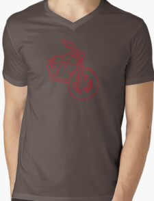 Red Glowing Cruiser Mens V-Neck T-Shirt