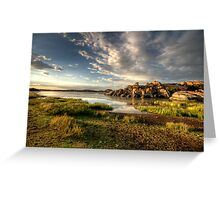 Willow Lake Green Greeting Card