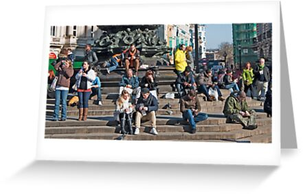Looking at the People: Piccadily Circus People Details by DonDavisUK