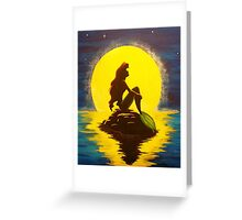 The Little Mermaid Disney - Ariel and the Moon Greeting Card