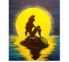 The Little Mermaid Disney - Ariel and the Moon Photographic Print